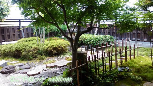 岐阜県美濃加茂市の太田宿の旧小松屋・お休み処の庭