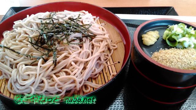 愛知県豊田市鞍ヶ池公園の食事処みどりさんでざるそば