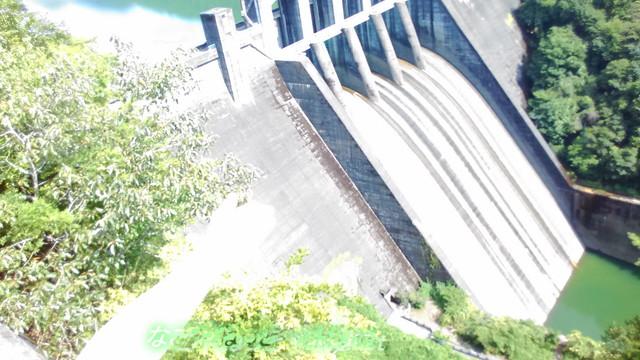 丸山ダム(岐阜県)展望台よりみた丸山ダム