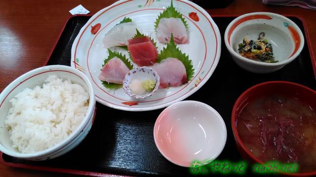 伊豆下田の金目亭で三種のキンメダイのお刺身定食