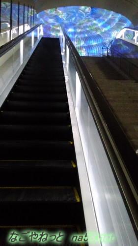 熱海MOA美術館リニューアルオープン後、長いエスカレーターから万華鏡の間へ