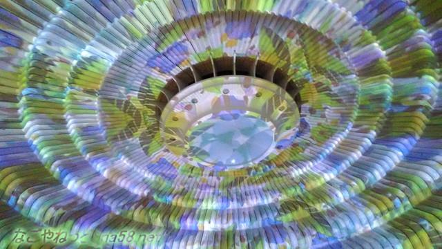 熱海MOA美術館リニューアルオープン後、長いエスカレーターにある万華鏡の間