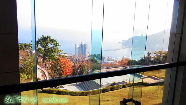 熱海MOA美術館カフェからの見る相模湾