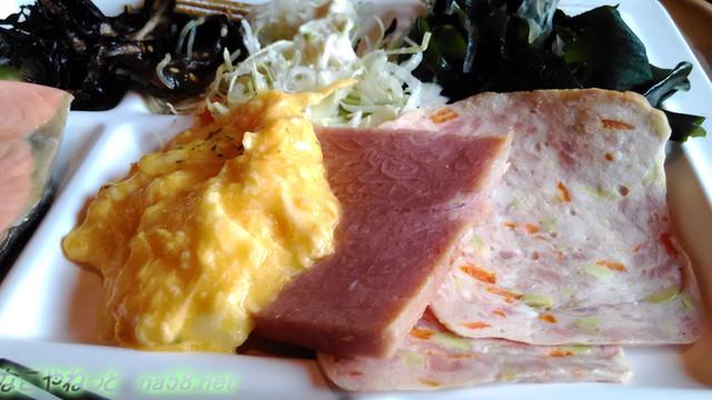 熱海ホテルパイプのけむり・朝食の内容ハムなど