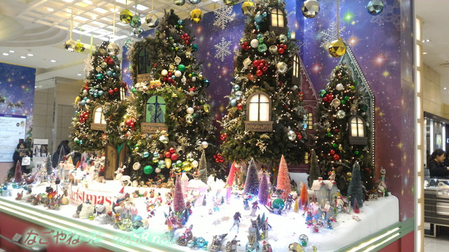 ジェイアール名古屋タカシマヤ2017年一階クリスマスの装飾