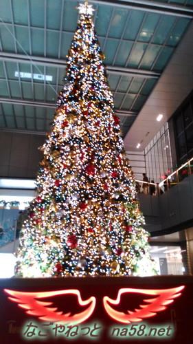 名古屋駅前ゲイトタワーのクリスマスツリーの装飾2017年