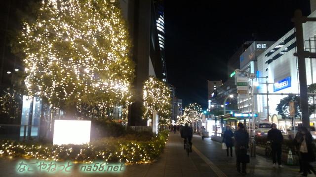 名古屋駅付近のクリスマスシーズンの街頭装飾