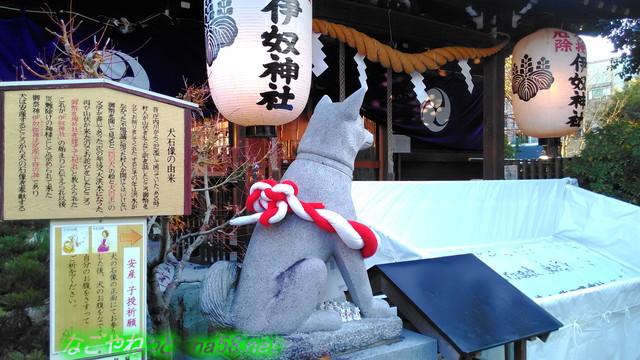 伊奴(いぬ)神社初詣参拝犬の王(名古屋市西区)
