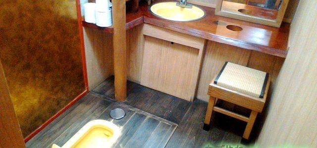 岐阜でお茶ならドライブイン「七宗御殿」殿様姫様気分のひのきトイレ