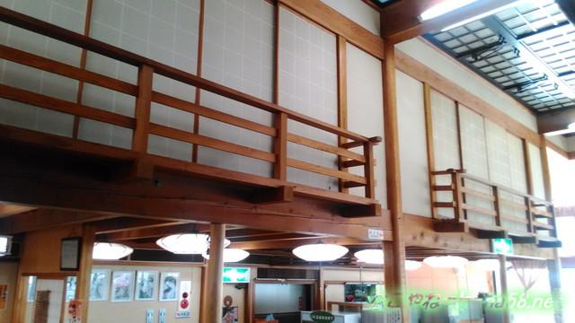 岐阜県賀茂郡七宗町の「七宗御殿」の食堂の二階張り出した二階部屋