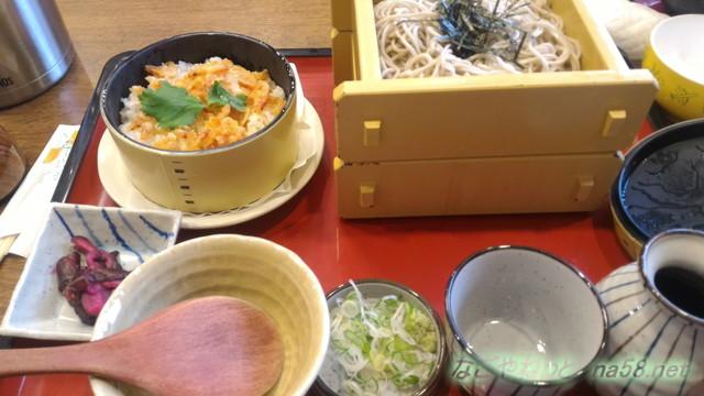 サガミ(名古屋市北区志賀公園店)ランチ・ざる二枚と桜エビごはんセット