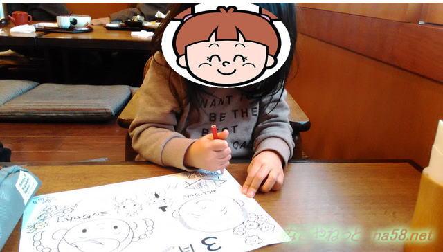 サガミ(名古屋市北区志賀公園店)お子様用塗り絵