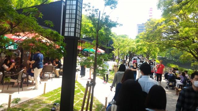 名古屋城の金シャチ横丁、善宗ゾーンの様子市役所地下鉄の出口近く