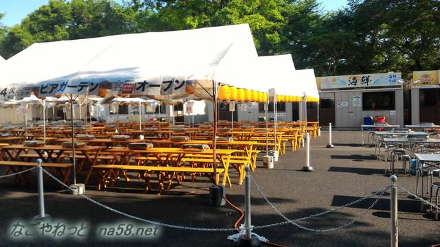 名古屋城金シャチ横丁義直ゾーンのビアガーデン、海鮮食べ飲み放題会場