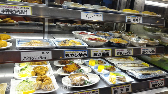 池田温泉新館の二階のレストラン惣菜コーナー