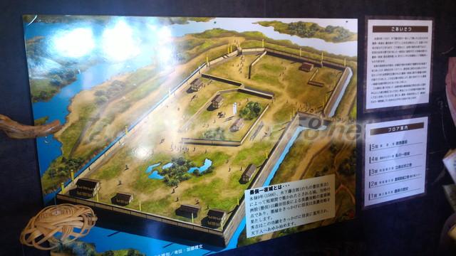 墨俣一夜城内展示、当時の墨俣城