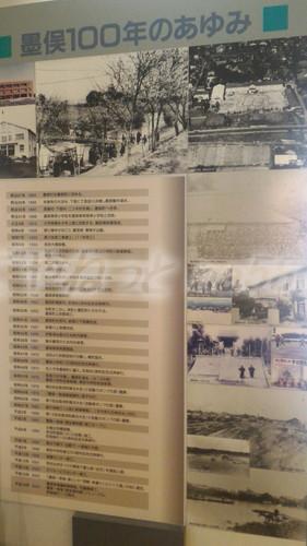 墨俣一夜城内展示歴史年表