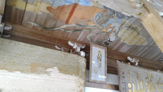 甘南美寺(岐阜県山県市長滝)本堂の天井天女絵