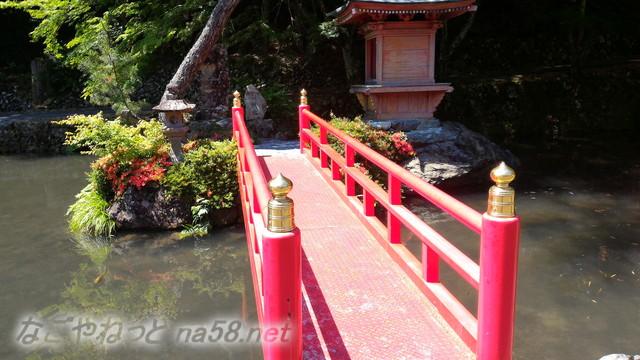 甘南美寺(岐阜県山県市長滝)の池、弁財天