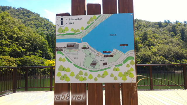 伊自良湖案内地図(岐阜県山県市長滝)