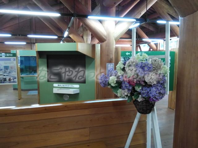 21世紀の森学習展示館内部(岐阜県関市板取)