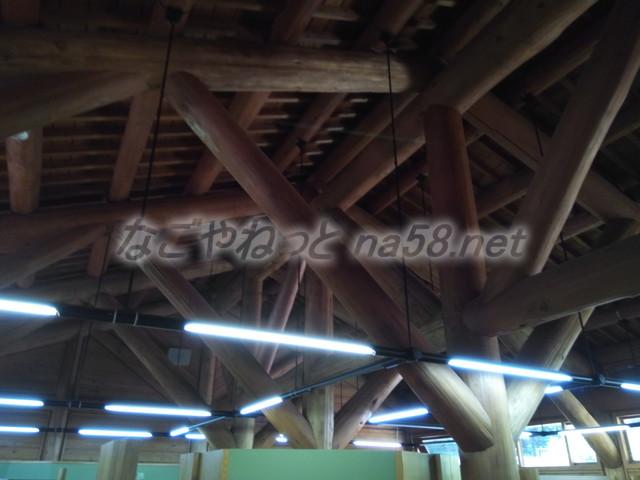 21世紀の森学習展示館天井内部(岐阜県関市板取)