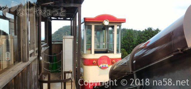 施設内ケーブルカーで行く温泉「希望荘」温泉と景観(三重県菰野町)
