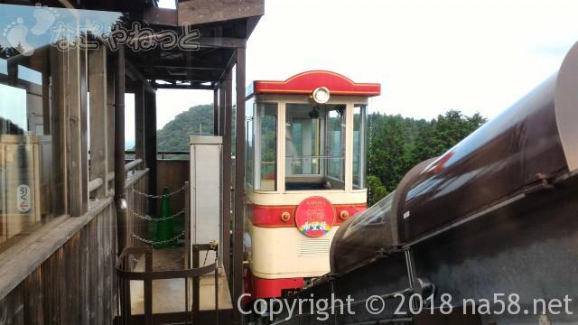 三重県菰野町「希望荘」のケーブルカー