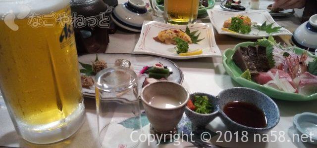 希望荘の食事(会席と朝バイキング)健康志向(三重県菰野町)