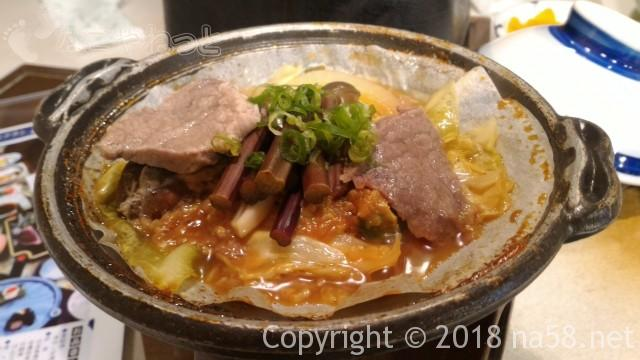 三重県菰野町「希望荘」の夕食会席料理の牛肉陶板焼き