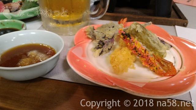 三重県菰野町「希望荘」の夕食会席料理の天ぷら