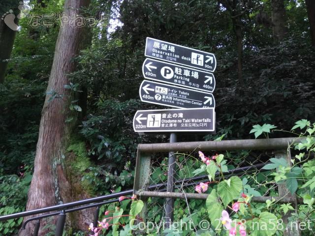 静岡県の富士宮市「白糸の滝」の案内標識
