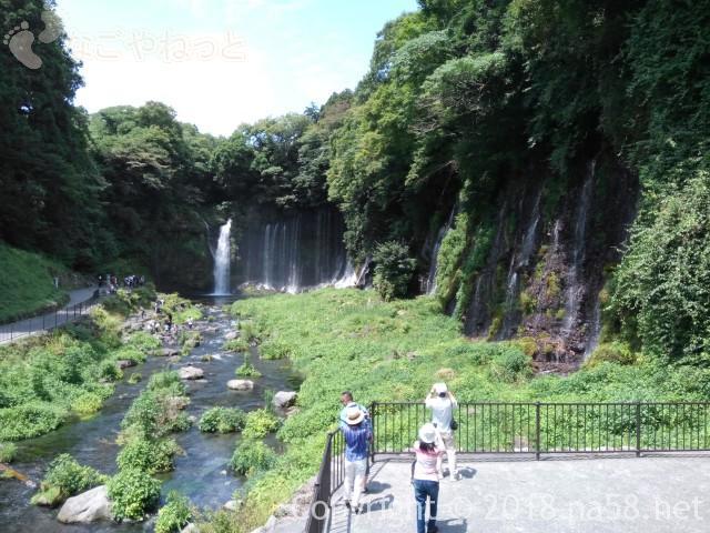 静岡県の富士宮市「白糸の滝」ビュースポット