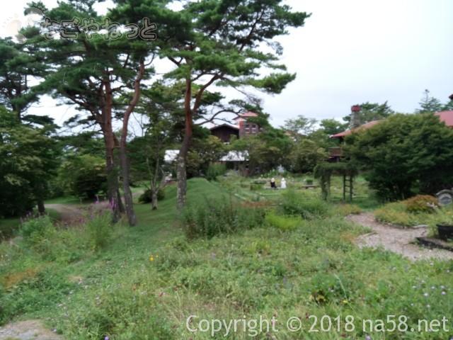 清里清泉寮(山梨県北杜市)の本館付近の様子