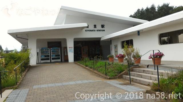 清里駅(JR小海線)の駅舎(山梨県北杜市))