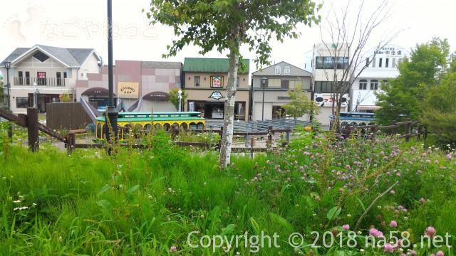 清里駅(JR小海線)の駅舎のデッキから(山梨県北杜市)