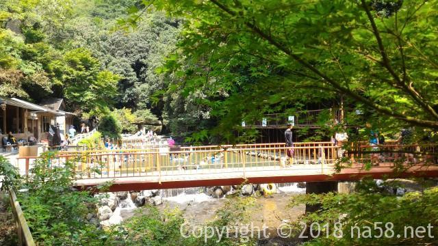 多度天然プール(三重県桑名市)プールに最も近い奥の駐車場からプールが目前