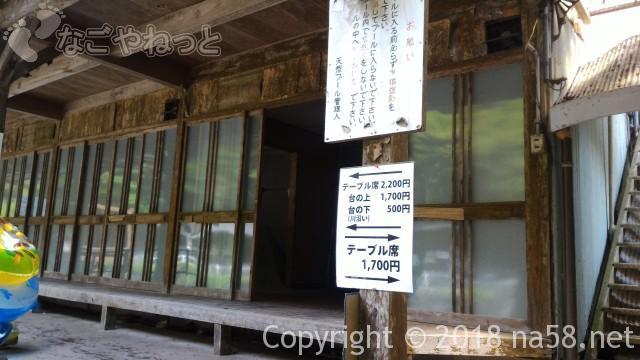 多度天然プール(三重県桑名市)の有料施設案内