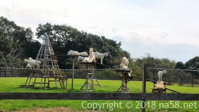 ぎふ清流里山公園(岐阜県美濃加茂市)の里山牧場でヤギたち