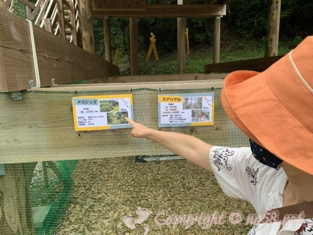 「ぎふ清流里山公園」(岐阜県美濃加茂市)内のアドベンチャーパーク、料金