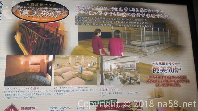 コロナの湯中川店(名古屋市中川区)天然溶岩サウナ(健美効炉)