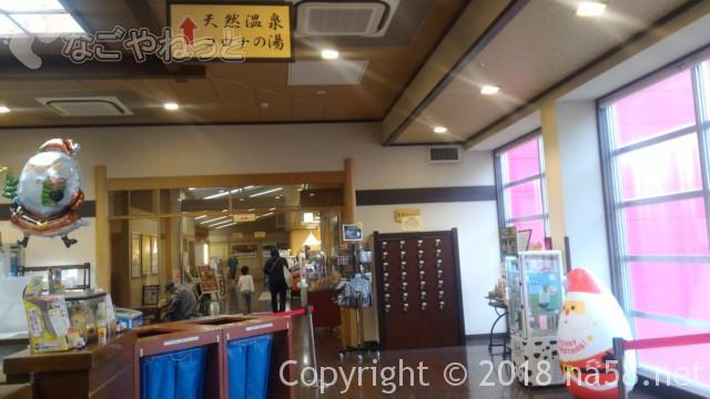 コロナの湯中川店、天然温泉コロナの湯にすすむ通路
