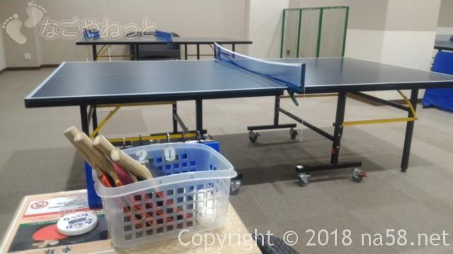コロナの湯中川店(名古屋市中川区)一階の卓球設備