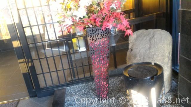 和合温泉「湯楽」日進市の入り口のしつらい