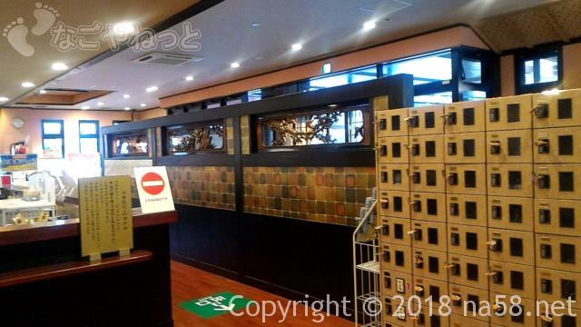 和合温泉「湯楽」日進市の靴箱と欄間