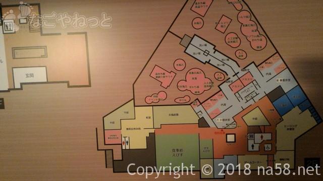 和合温泉「湯楽」日進市の館内案内図