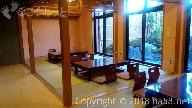 和合温泉「湯楽」無料お休みどころ、畳で掘りごたつ