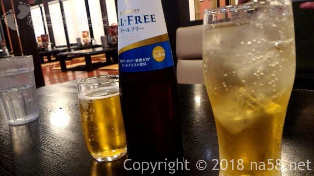 和合温泉「湯楽」お食事処「えびす」のノンアルコール類