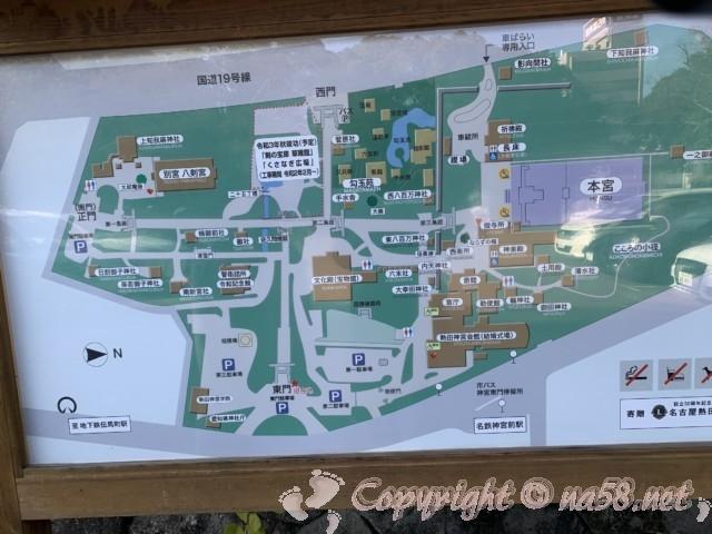 熱田神宮(名古屋市熱田区)境内案内図