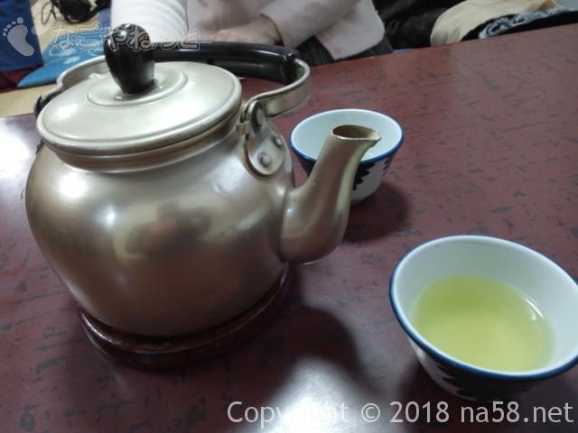 伊勢うどん(二光堂支店)おはらい町通り内宮付近、緑茶とやかん